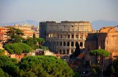 Красивый Рим с coloseum в центре Стоковое Изображение RF