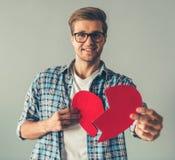 Красивый романтичный парень Стоковая Фотография RF