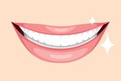 Красивый рот, улыбка и зубы Стоковые Фото