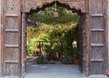 Красивый сад в Udaipur стоковое фото