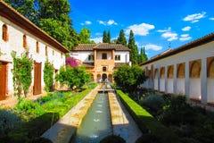 Красивый сад Альгамбра в Испании Стоковые Изображения