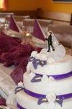 Красивый свадебный пирог Стоковые Фотографии RF