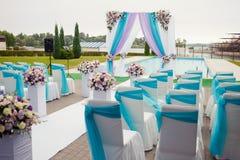 Красивый свод свадьбы настроил украшение на церемонии Стоковое Изображение
