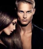 Красивый сексуальный портрет пар Стоковое Фото