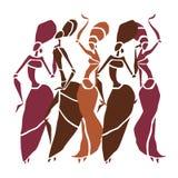 Красивый силуэт танцоров Стоковые Изображения RF