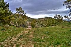 Красивый сицилийский ландшафт, Mazzarino, Кальтаниссетта, Италия, Европа стоковая фотография rf