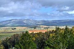 Красивый сицилийский ландшафт, Mazzarino, Кальтаниссетта, Италия, Европа стоковые изображения rf