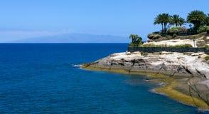 Красивый скалистый берег Стоковые Изображения RF