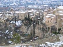 Красивый снежный ландшафт в Cuenca, Испании Стоковые Изображения RF