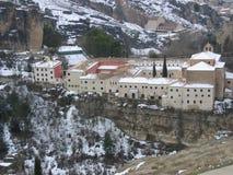 Красивый снежный ландшафт в Cuenca, Испании Стоковая Фотография RF
