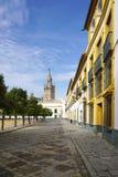 Красивый собор Севильи от внешней стороны перспективы Стоковые Фото