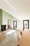 Красивый современный дом Стоковое Изображение RF