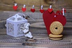 Красивый состав праздника валентинки Стоковые Фото