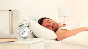 Красивый спать человека видеоматериал