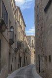 Красивый средневековый город Caceres в эстремадуре Стоковые Фото