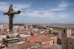 Красивый средневековый город Caceres в эстремадуре Стоковое фото RF