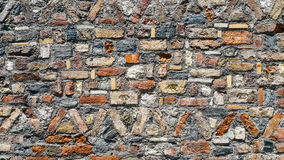 Красивый старой красочной кирпичной стены Стоковые Фото