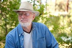 красивый старший портрета человека Стоковая Фотография RF