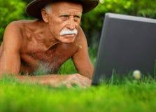 красивый старший человека Стоковые Изображения
