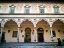 Красивый старый дворец Пистойя Италия Стоковые Фото