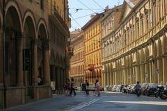 Красивый старый городок болонья стоковая фотография rf