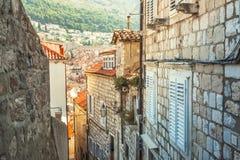 Красивый старый город на адриатическом побережье стоковые изображения