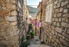 Красивый старый город на адриатическом побережье стоковая фотография