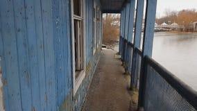 Красивый старый загубленный дом акции видеоматериалы