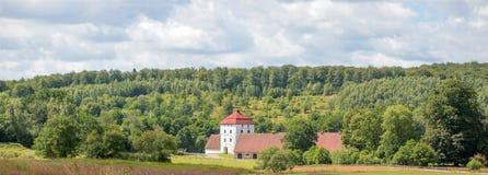 Красивый старый замок в наше время только для туристов стоковое фото rf