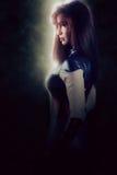 Красивый супергерой женщины стоковые изображения