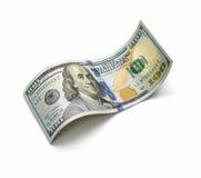 Красивый счет 100-доллара на белой предпосылке Стоковая Фотография