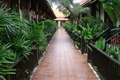 Красивый тайский курорт стиля Стоковое Изображение RF