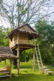 Красивый творческий handmade дом на дереве стоковая фотография