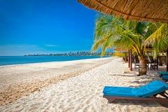 Красивый тропический пляж Sokha, Sihanoukville, Камбоджа Стоковое Изображение
