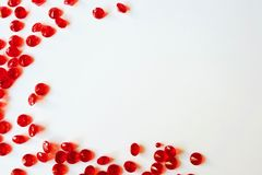 Красивый угол красных диамантов Стоковые Фотографии RF