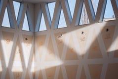 Красивый украшенный интерьер мечети Стоковая Фотография RF