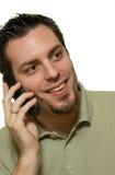 красивый усмехаться телефона человека Стоковые Изображения