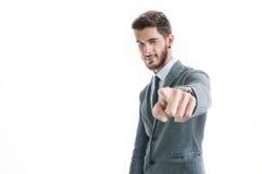 Красивый успешный указывать бизнесмена Стоковое Фото