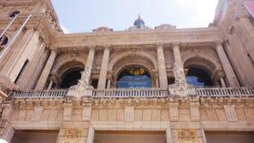 Красивый фасад музея истории Каталонии в Барселоне стоковые изображения rf