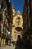 Красивый фасад собора Santa Maria De San Sebastian Природа перемещения архитектуры стоковые изображения
