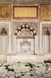 Красивый фасад фонтана Ahmed III султана, Стамбула стоковое фото