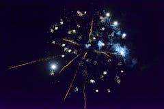 Красивый фейерверк на Новый Год Стоковое Изображение