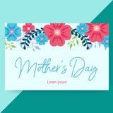 Красивый флористический День матери карты бесплатная иллюстрация