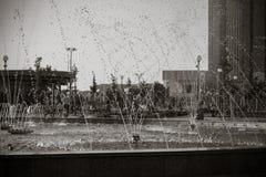 Красивый фонтан в парке, старом городе Бухары, Узбекистане Стоковое фото RF