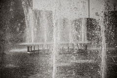 Красивый фонтан в парке, старом городе Бухары, Узбекистане Стоковые Изображения