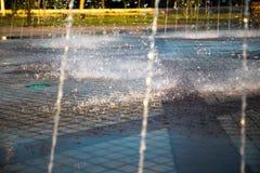 Красивый фонтан в парке, старом городе Бухары, Узбекистане Стоковая Фотография