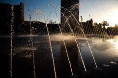 Красивый фонтан в парке, старом городе Бухары, Узбекистане Стоковые Фотографии RF