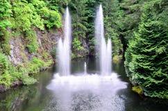 Красивый фонтан Стоковое Изображение
