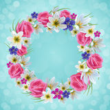 Красивый флористический венок Стоковое Изображение RF