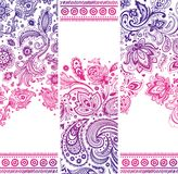 Красивый флористический комплект знамен Стоковое Изображение RF